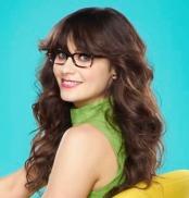 Image, zooey deschanel, glasses, color, fashion, famous, celebrity